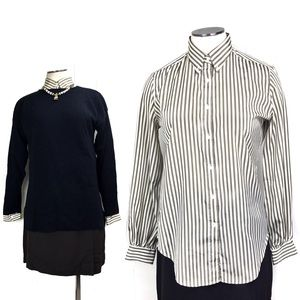 Vintage 90s Preppy Striped Button Up Shirt